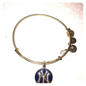 Alex and Ani gold yankee bracelet